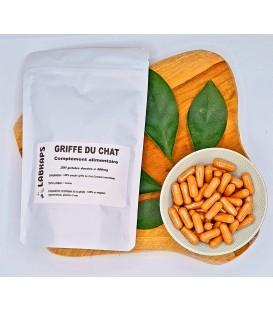 GRIFFE DU CHAT 200 gélules dosées à 500 mg enveloppe 100% végétale