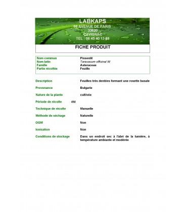 PISSENLIT FEUILLE POUDRE - 500g