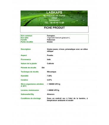 FENUGREC POUDRE - 500 g